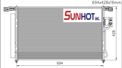 Hyundai FE - CHL024 - 散熱片
