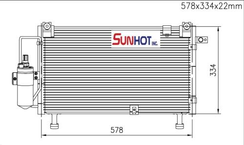 Isuzu RODEO 2.4 D-MAX - CIZ008 - 散热片