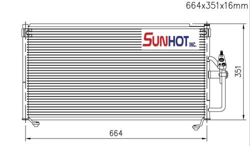 Mitsubishi GALANT - CMB025 - 散热片