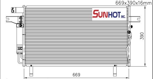 Nissan OX4-3.5L - CNS051 - 散热片