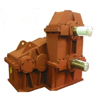 Dual axial gearboxes