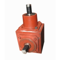 Right-angle transmission gearboxes