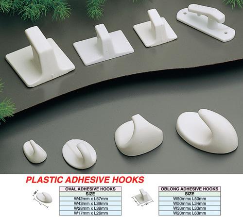 Plastic Adhesive Hooks