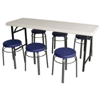 Folding Conference Tables W/Round Stools