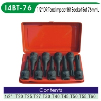 Impact Bit Socket/ Torx Bit Socket Set