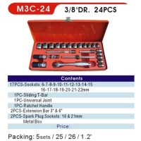 Sockets / Socket Wrench Sets / 3/8