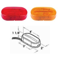 4p LEDs Oblong Clearance and Side Marker Light w/Reflex