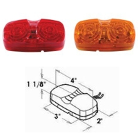 6p LEDs Double Bubble Clearance and Side Marker Light