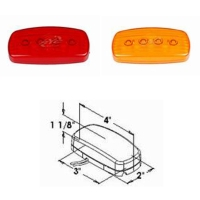 4p LEDs Oblong Clearance and Side Marker Light