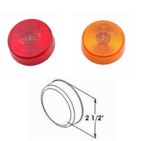 13p LED 2 1/2 Round Sealed Clearance and Side Marker Light