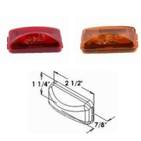3p LED 2 1/2 Rectangular Sealed Clearance and Side Marker Light