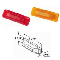 4p LED 3 3/4 Rectangular Sealed Clearance and Side Marker Light
