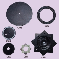 Stamped Metallic And Plastic Swivel Discoid, Rotary Rings (Lazy Susan)