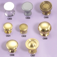 Brass, Iron, Steel And Aluminum Knobs (Lathed)
