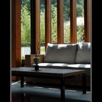 藤編實木複合材料客廳組傢俱