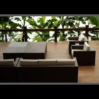 戶外仿藤編織複合材料客廳組傢俱
