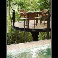 藤編複合材料餐桌椅傢俱