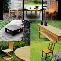 竹製Z造型的環保材料單品傢俱