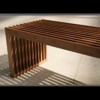 竹制板条造型的环保材料单品家俱