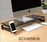 Glass Monitor Stand- Grey