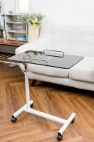 長方玻璃昇降桌