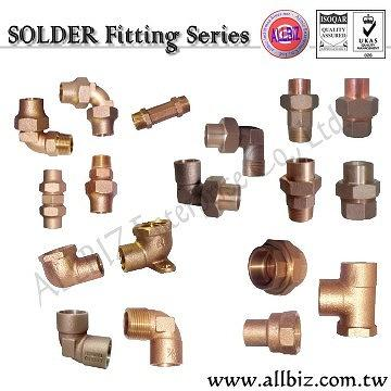 Solder Fitting, Heavy Flared Fitting, Marine Hardware, Vessel Fitting