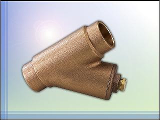 Bronze Y Strainer Valve, Y-Strainer, Solder Connection, Valve