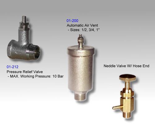 Automatic Air Vent / Needle Valve w/ Hose End