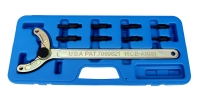 Cens.com ADJUSTABLE UNIVERSAL CAMSHAFT PULLEY HOLDING TOOL  TW PAT. USA PAT. HWANG CHERNG BIN SPECIALTY TOOLS INC.