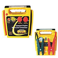Compact Emergency Jump Start with Air Compressor