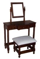 麻花條化妝台及化粧椅