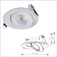 Latest ultraslim UFO swivel and tilt adjustable COB LED downlight lamp