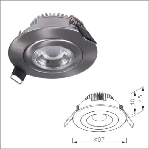Classic Design Recessed LED Light Fixture, IP44 High Efficiency Light