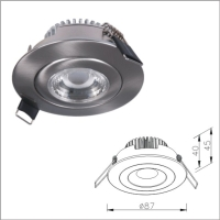 Classic Design Recessed LED Light Fixture, IP44 High Efficiency Light