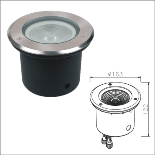 Brightness buried walk over waterproof LED lights IP67 LEDground light