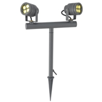 Twin spot head outdoor spotlight SHARP COB LED garden light