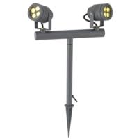 Twin spot head outdoor spotlight SHARP COB LED garden light