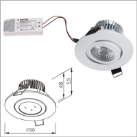 Long Serving Life Dimmable COB LED, Elegant Design LED Downlight