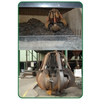 Steel waste-pickup claw