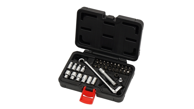 34PCS 75° Flexible Gear-Ring Wrench 13MM With Go Through Socket Set