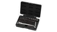 38PCS 75° Flexible Gear-Ring Wrench 10MM With Spline Socket Set