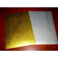 Gold/Silver-Sand Film Label/Card Paper