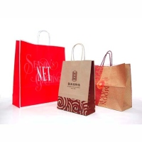 Paper Shopping Bag with Twisted Paper Handle