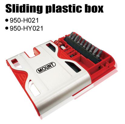 Sliding plastic box