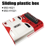 Sliding plastic box