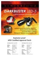 DARKBUSTER LED-5D, LED-5R