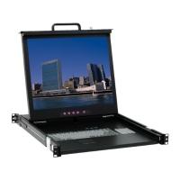 1U單軌 TFT- LCD KVM多電腦切換器