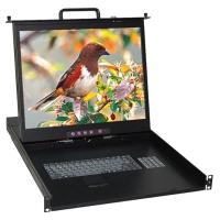 1U單軌 TFT- LCD 模組化KVM多電腦切換器