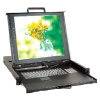 """Dual rail 15/17/19"""" Console with Modular KVM Switch"""