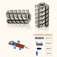 Cutter Helical Planing Cutter -With Throw-Away TCT Tips